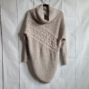 New York & company assymetrical sweater cowl neck